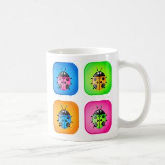 Ladybug Icons Coffee Mugs