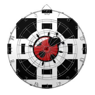 ladybug illustration dartboard