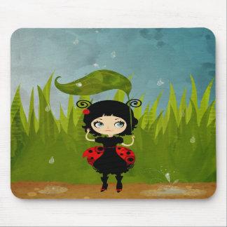 Ladybug Illustration Mousepad
