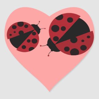 ladybug image heart sticker