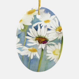 Ladybug in Daisies Ornament