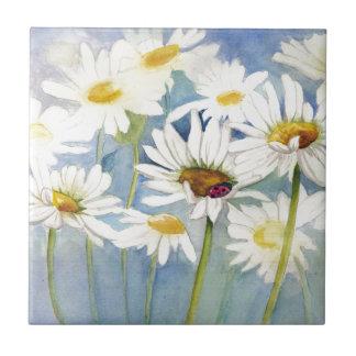 Ladybug in Daisies Tile
