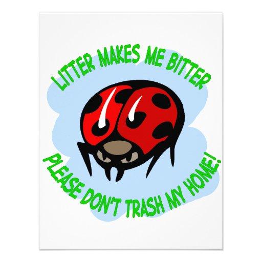 ladybug personalized invitations