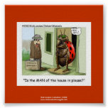 Ladybug Issues Cartoon On Quality Funny Poster