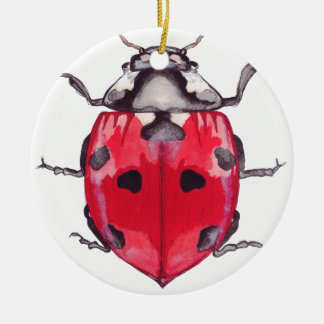 Ladybug.jpg Round Ceramic Decoration