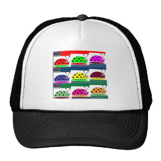 LadyBug Lady BUG Colorful Artistic Touch Fantasy Trucker Hats
