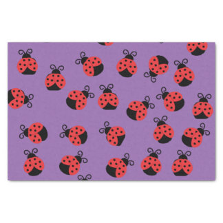 Ladybug ladybird beetles on purple tissue paper