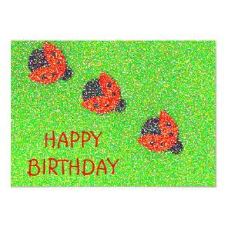 Ladybug/Ladybird Greeting Card 13 Cm X 18 Cm Invitation Card