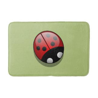 Ladybug (Ladybird, Lady Beetle) with Dots - Red Bath Mats