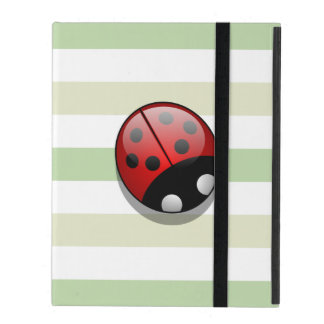 Ladybug (Ladybird, Lady Beetle) with Dots - Red iPad Cover