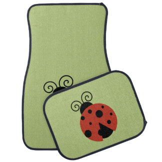 Ladybug (Ladybird, Lady Beetle) with Dots - Red Floor Mat