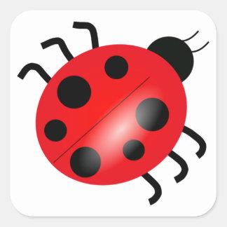 Ladybug - Ladybird Square Sticker