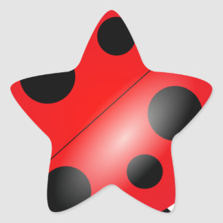 Ladybug - Ladybird Star Sticker