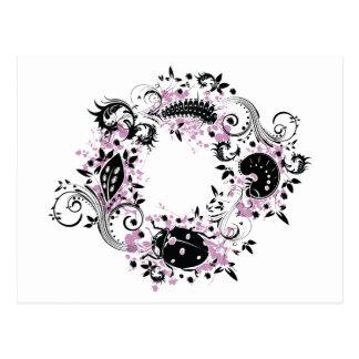 Ladybug Life Cycle Postcard - Purple