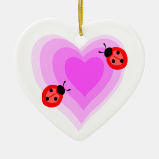 Ladybug Love Christmas Ornament