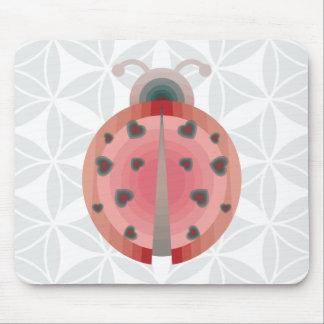 ladybug love mouse mat
