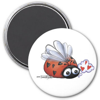 Ladybug lovebug 7.5 cm round magnet