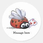 Ladybug lovebug stickers