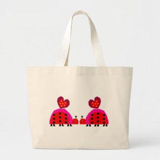 Ladybug Lovers Large Tote Bag