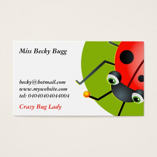 Ladybug, Miss Becky Bugg, Business Card