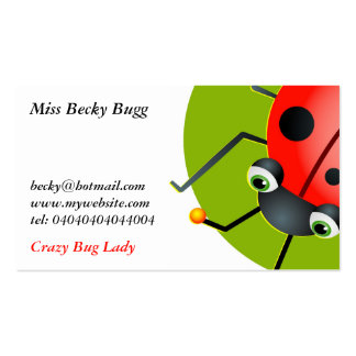 Ladybug, Miss Becky Bugg, Pack Of Standard Business Cards