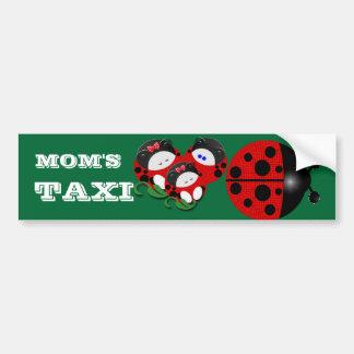 Ladybug mom's taxi car bumper sticker