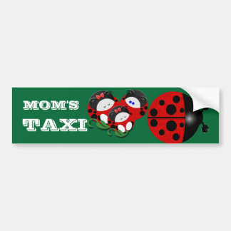 Ladybug mom's taxi bumper stickers