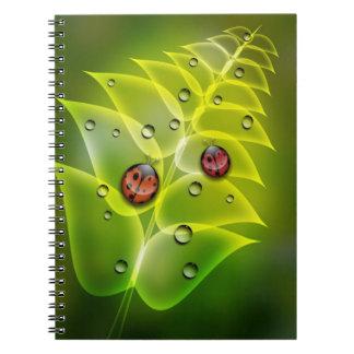 Ladybug Morning Spiral Notebook