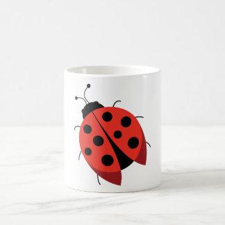 Ladybug Basic White Mug
