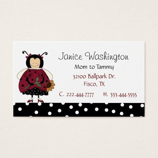 Ladybug Mummy Card