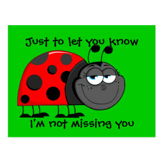 Ladybug Not Missing You Postcard