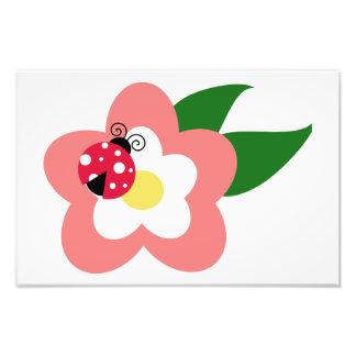 Ladybug on a flower clipart photo
