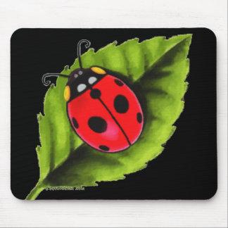 Ladybug on a Leaf Mouse Pad