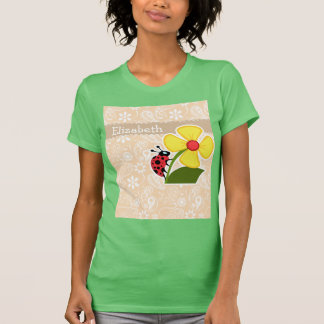 Ladybug on Bisque Color Paisley T-Shirt