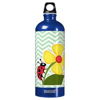 Ladybug on Celadon Chevron SIGG Traveller 1.0L Water Bottle