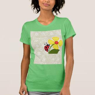 Ladybug on Ecru Paisley T-shirts