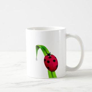 Ladybug on Grass Basic White Mug