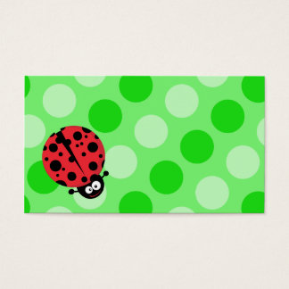 Ladybug on Polka Dots Business Card