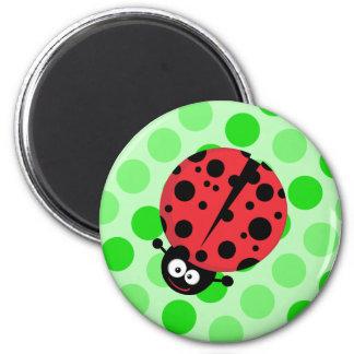 Ladybug on Polka Dots Magnet