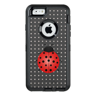 Ladybug On Square Pattern iPhone 6/6s Case