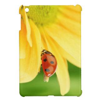 Ladybug on sunflower iPad mini cover
