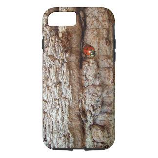 Ladybug on tree bark iPhone 8/7 case