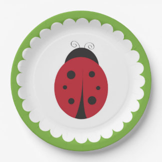Ladybug Paper Plates- Spring Garden Plates