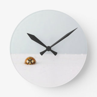 LadyBug partition bell Round Clock