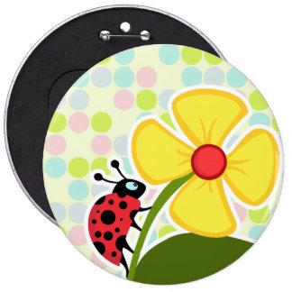 Ladybug Pastel Colors, Polka Dot 6 Cm Round Badge