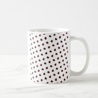 Ladybug Pattern Basic White Mug
