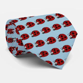 Ladybug Pattern Tie