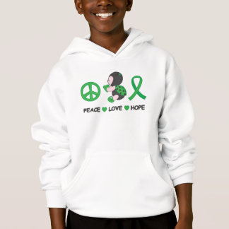 Ladybug Peace Love Hope Green Awareness Ribbon