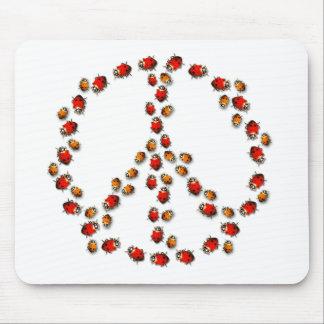 Ladybug Peace Sign Mousepad