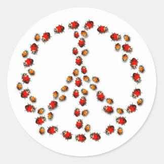 Ladybug Peace Sticker